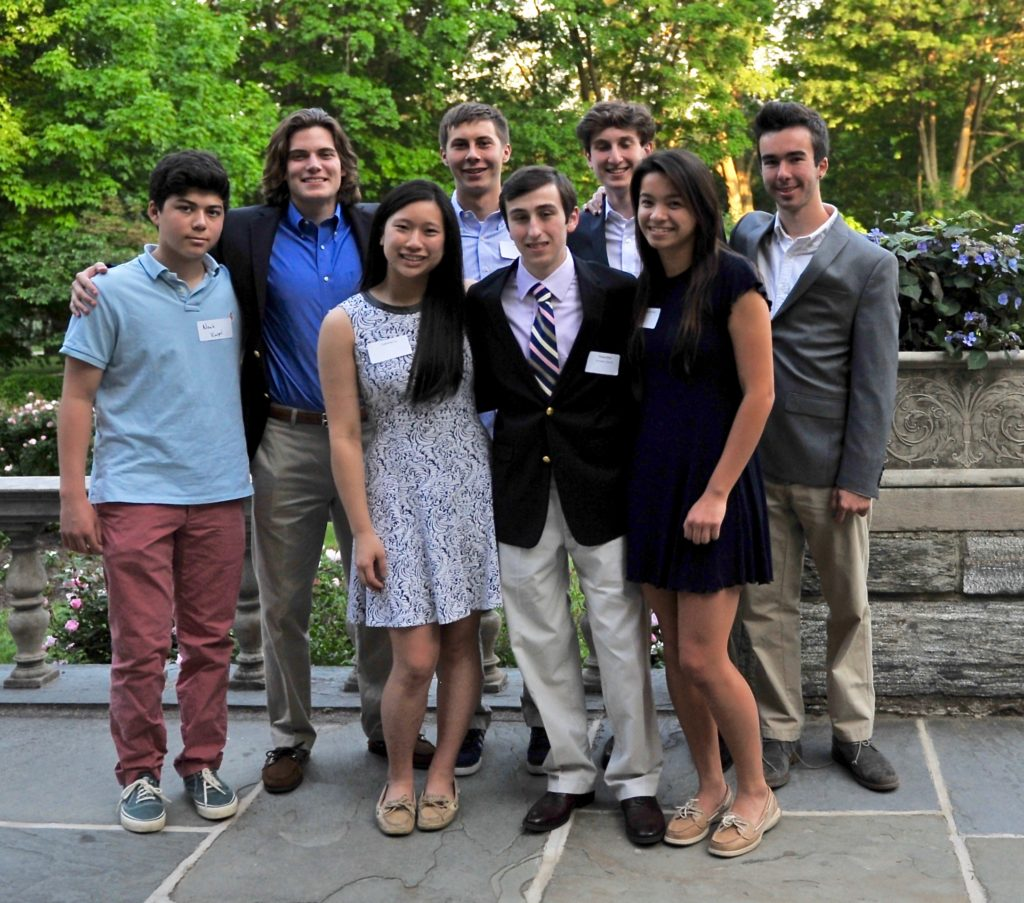 harriton-student-council-officers-with-harriton-special-award-recipient-thomas-bressi